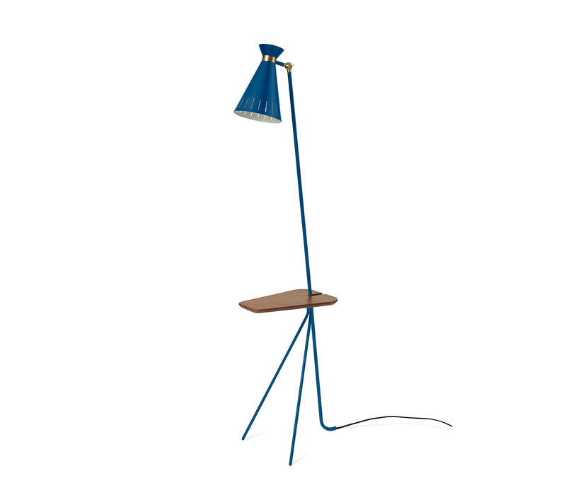 Cone Floor Lamp with table