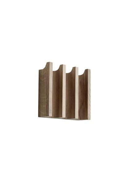 Column coat rack - Oak - 20cm x 5,5cm x 18cm