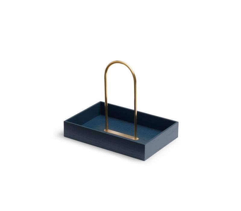 Norr Box oak/brass blue