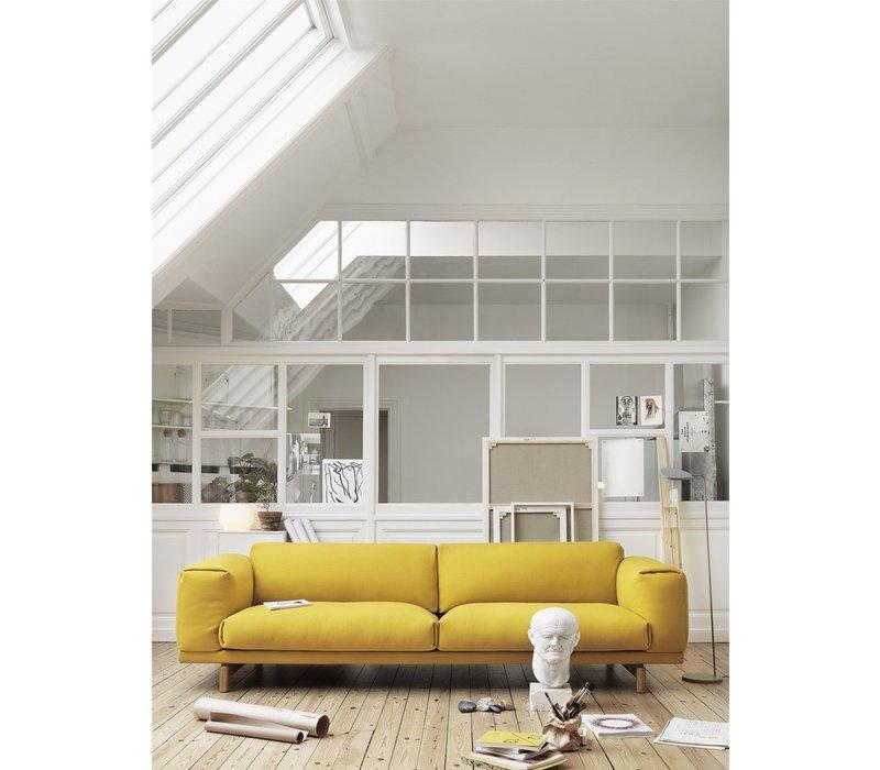 REST sofa - 3-seater - Oak base -