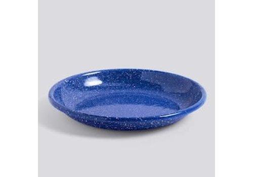 Enamel Deep plate L Dust blue