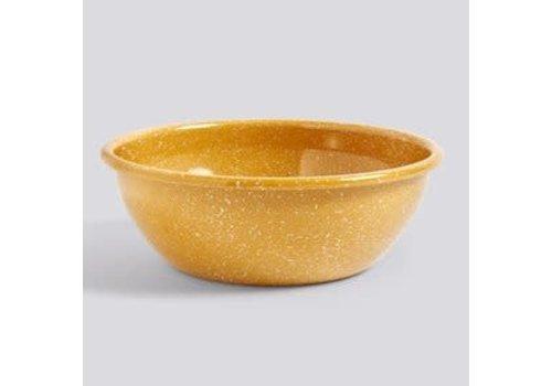 Enamel Salad bowl Dust mustard