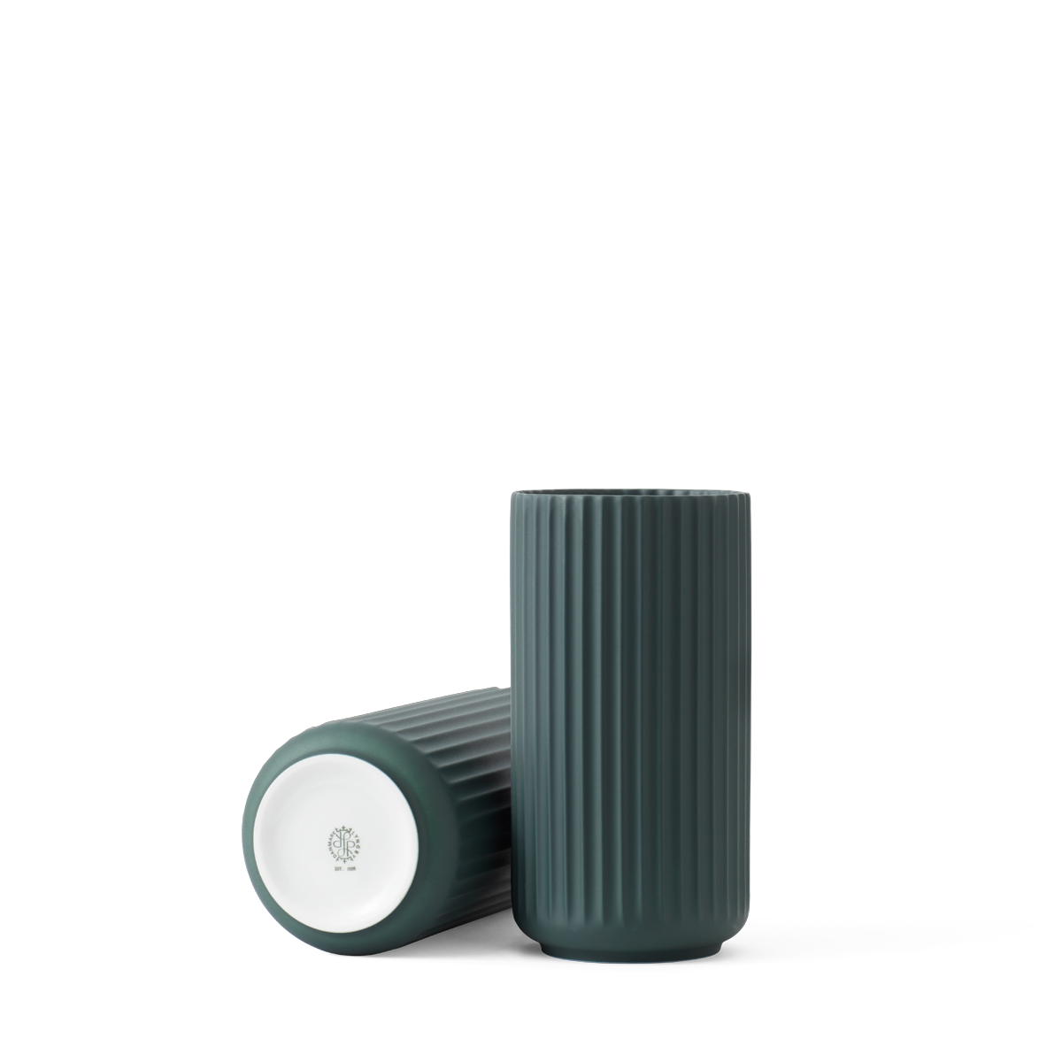 Lyngby vase - Copenhagen green procelain-4