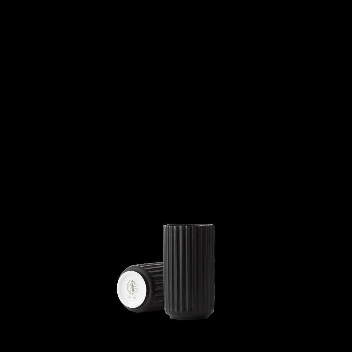 Lyngby vase - black porcelain-1