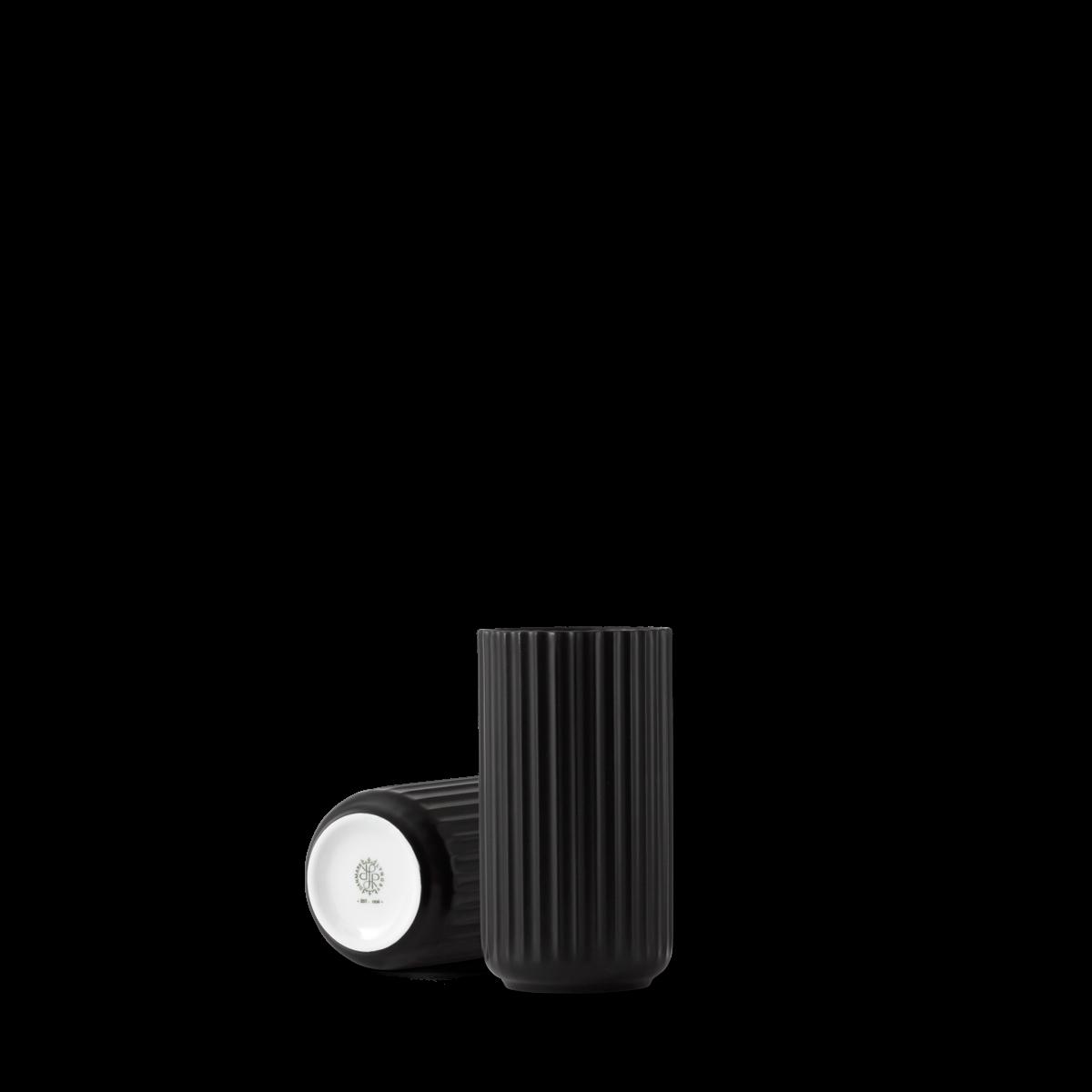 Lyngby vase - black porcelain-2