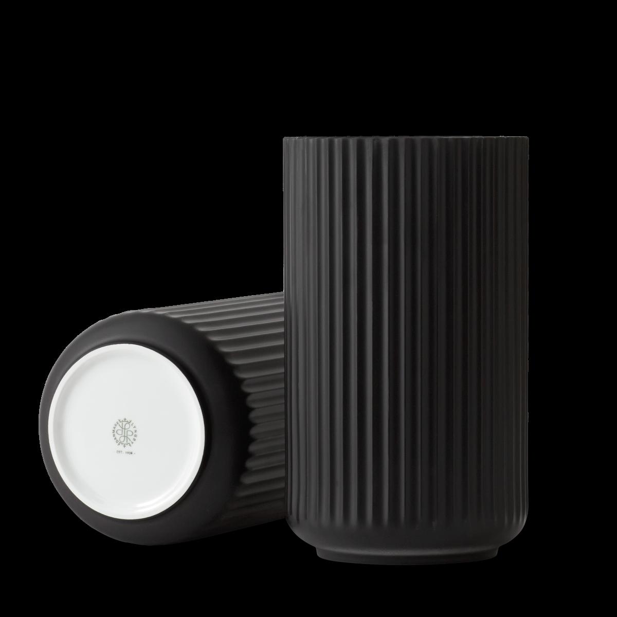 Lyngby vase - black porcelain-5
