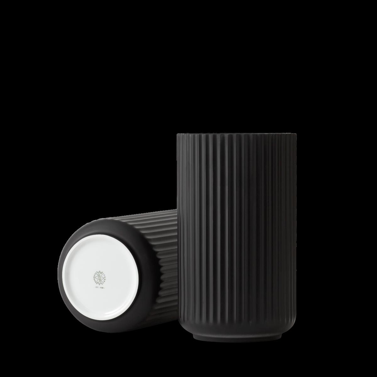 Lyngby vase - black porcelain-4