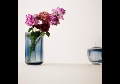 Lyngby vase - midnight blue glass
