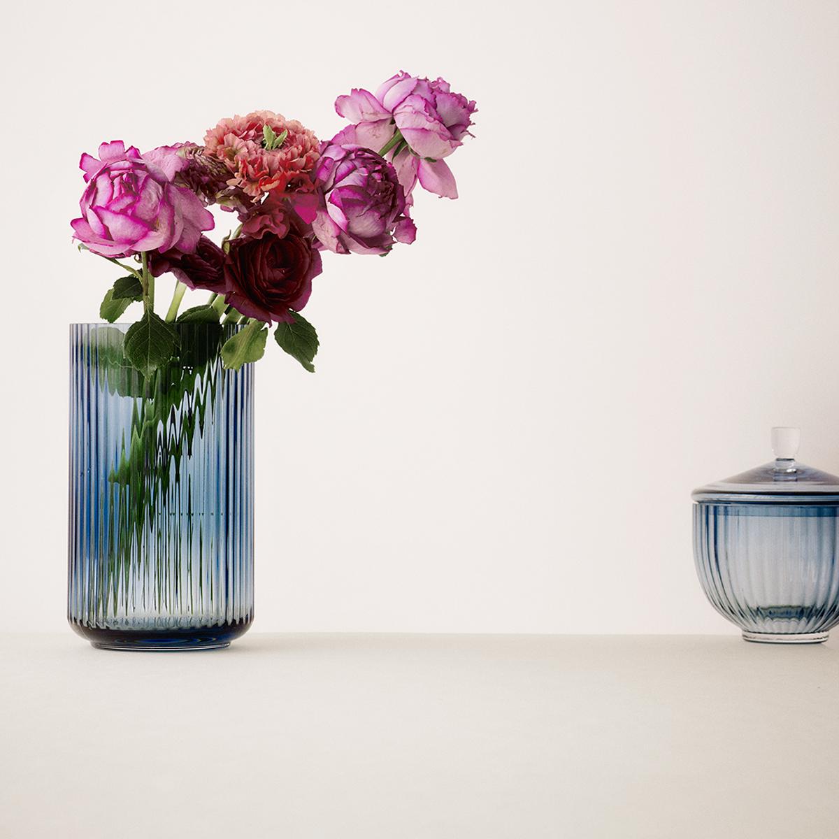 Lyngby vase - Midnight blue glass-2