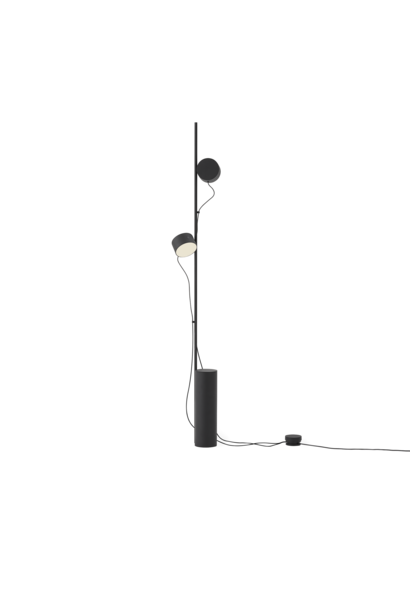 Post floor lamp black