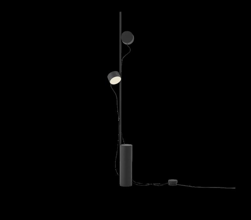Post floor lamp black