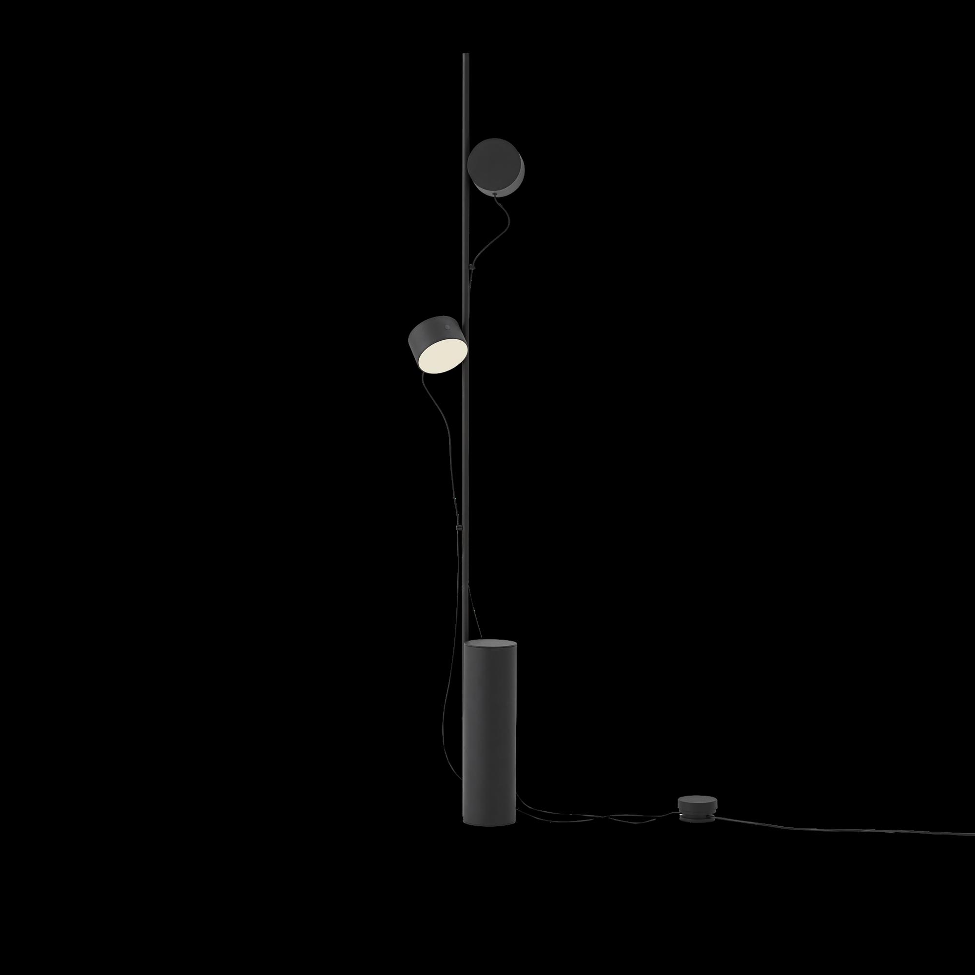 Post floor lamp black-1
