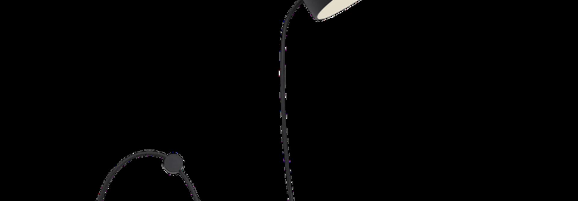 Post wall lamp black