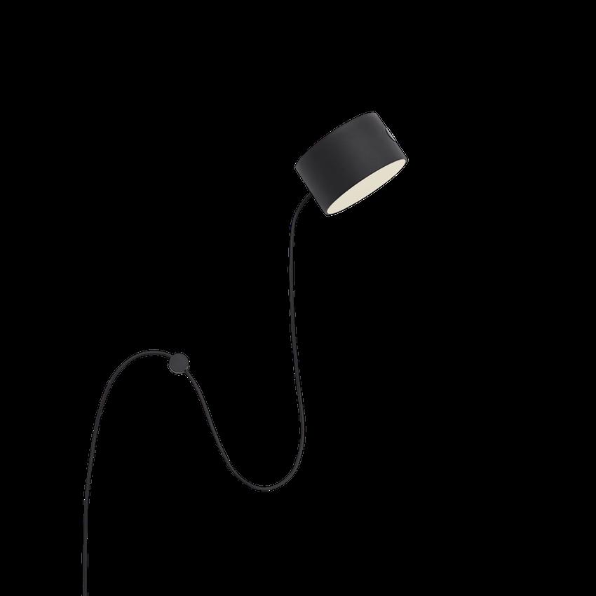 Post wall lamp black-1