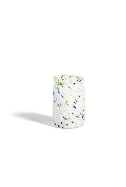 Splash vase - roll neck M white dot