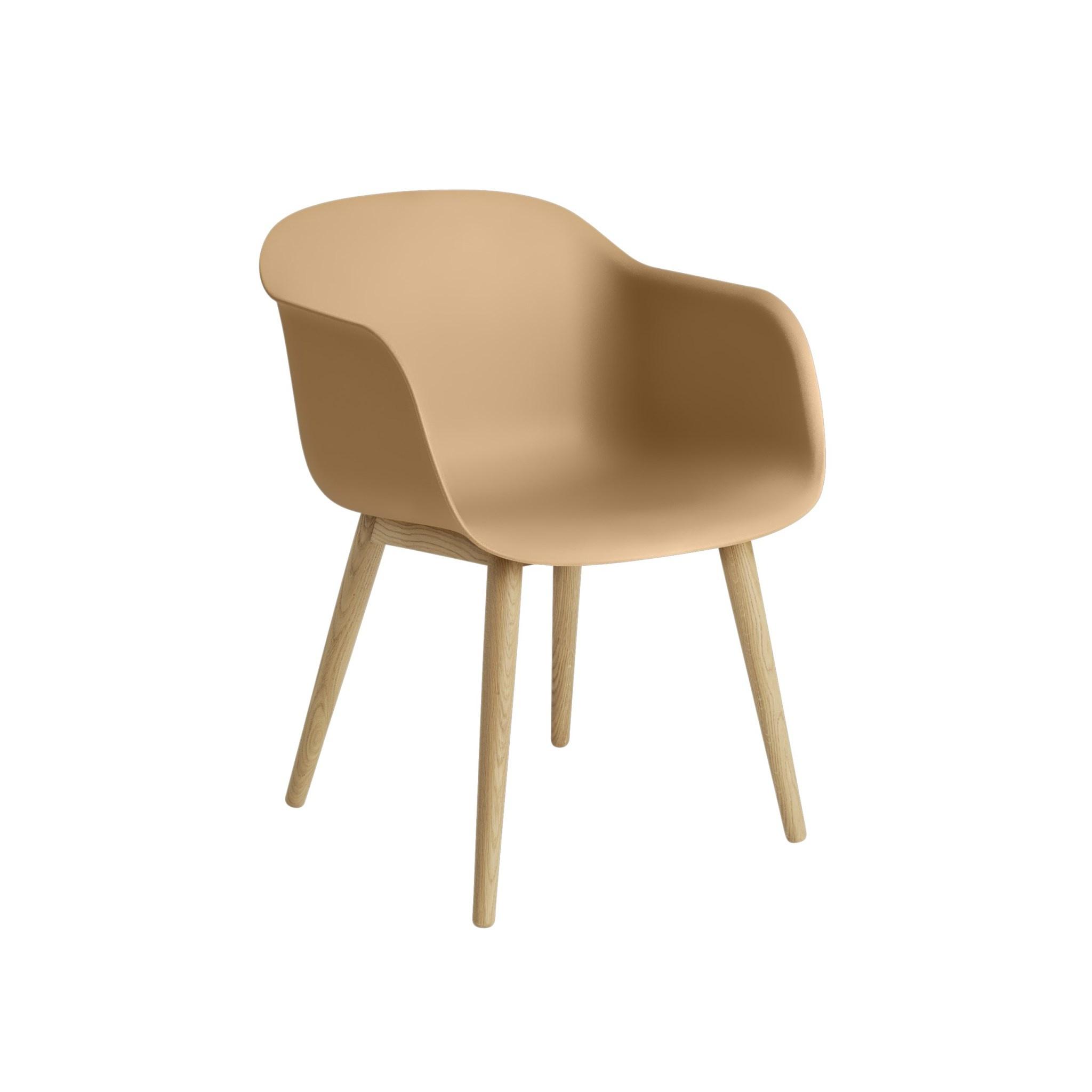 Fiber armchair wood base-3
