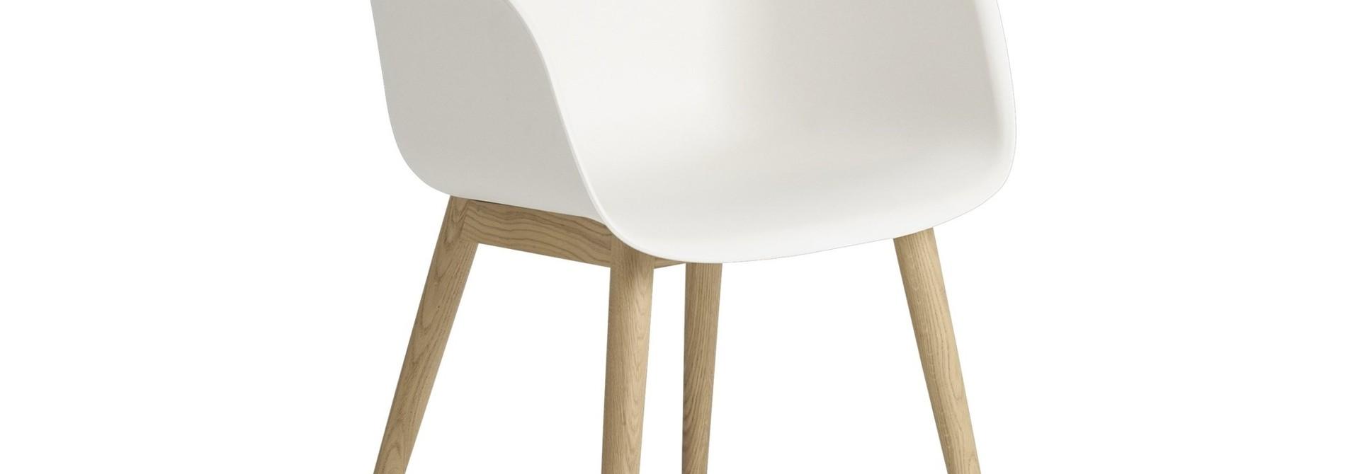 Fiber armchair wood base