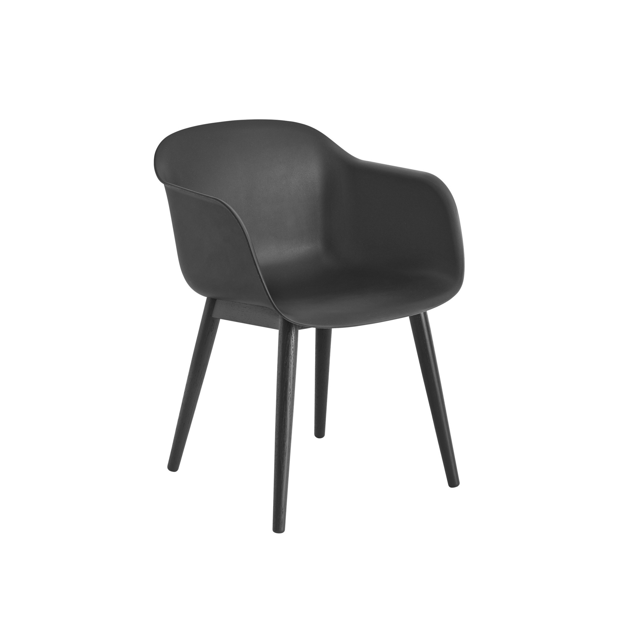 Fiber armchair wood base-6