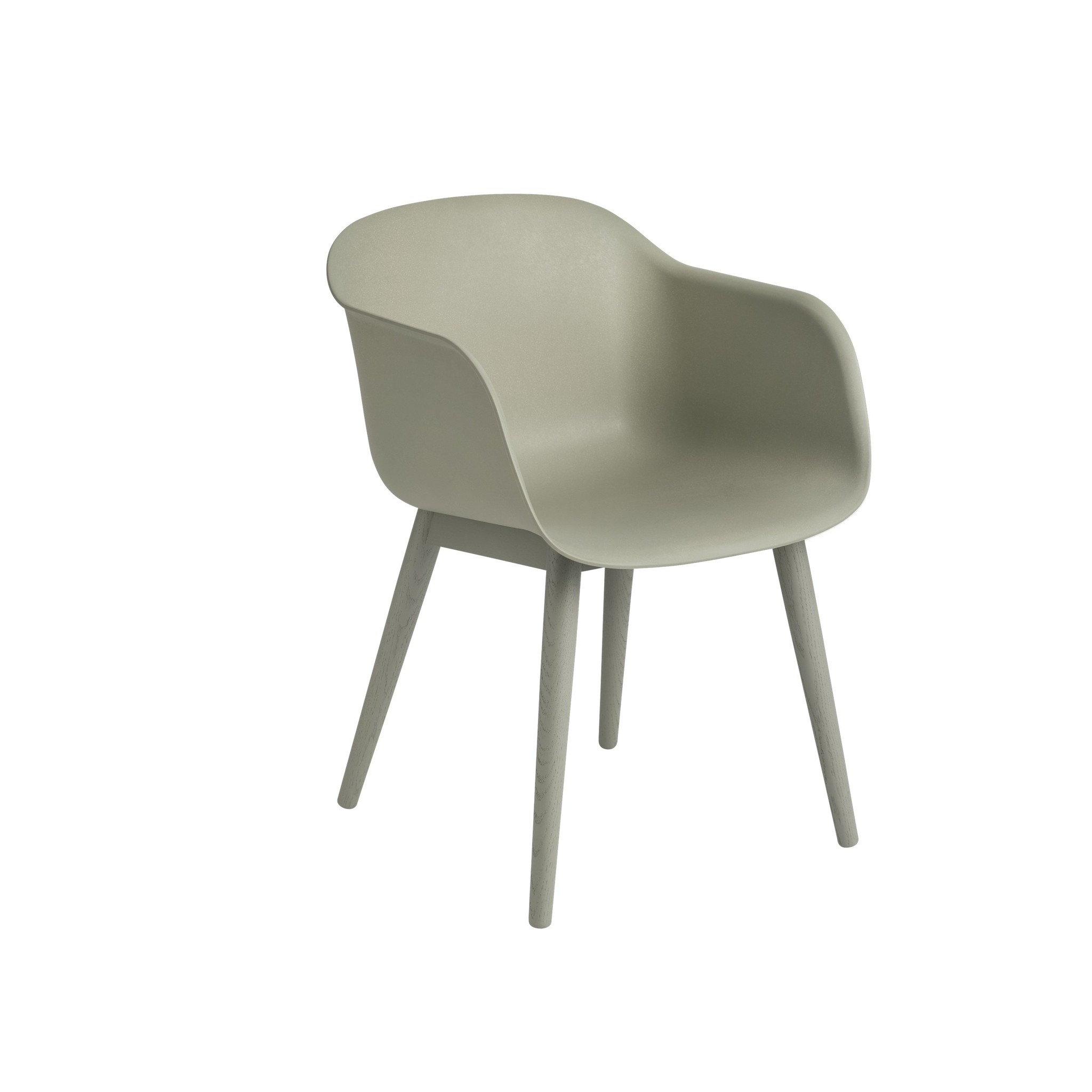 Fiber armchair wood base-7