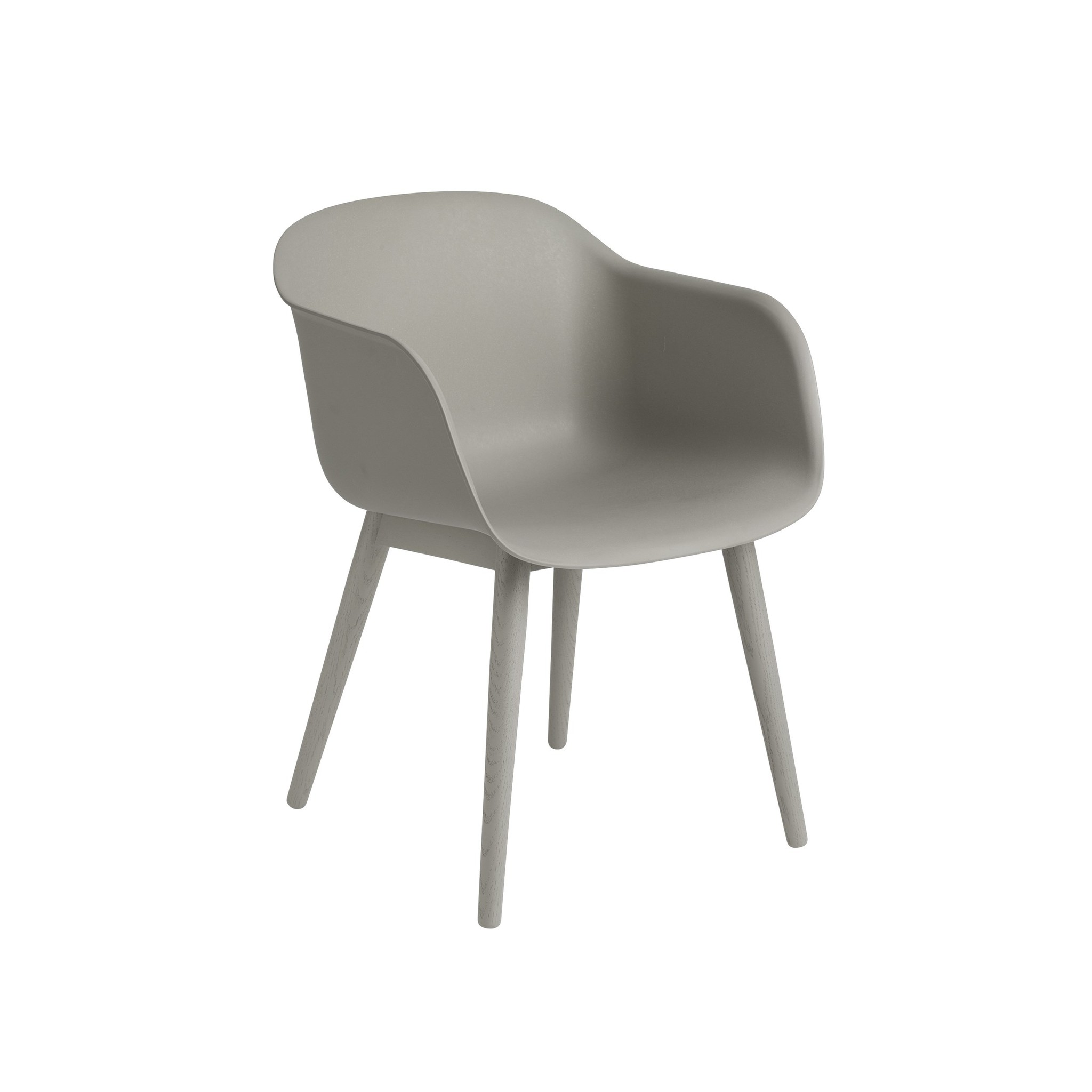 Fiber armchair wood base-8