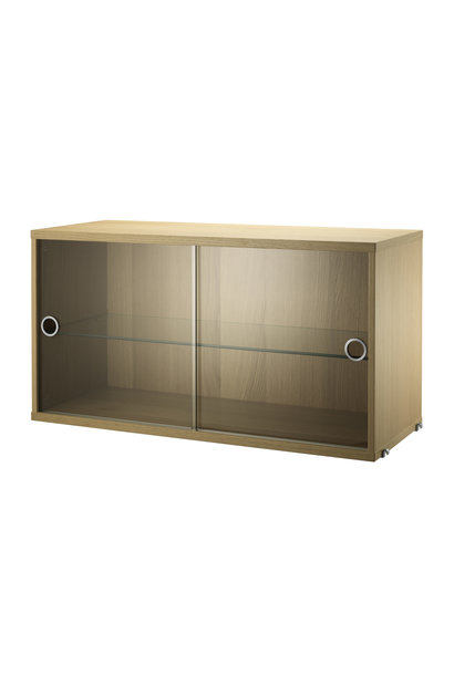 Display cabinet with sliding glass doors String - 1 pack