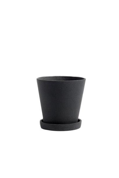 Flowerpot with saucer - M