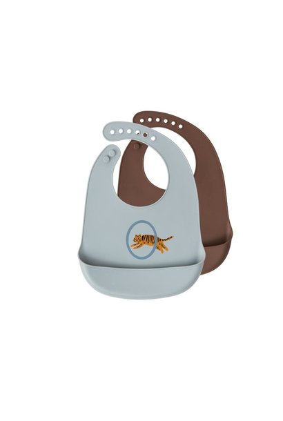 Bib Tiger 2pcs