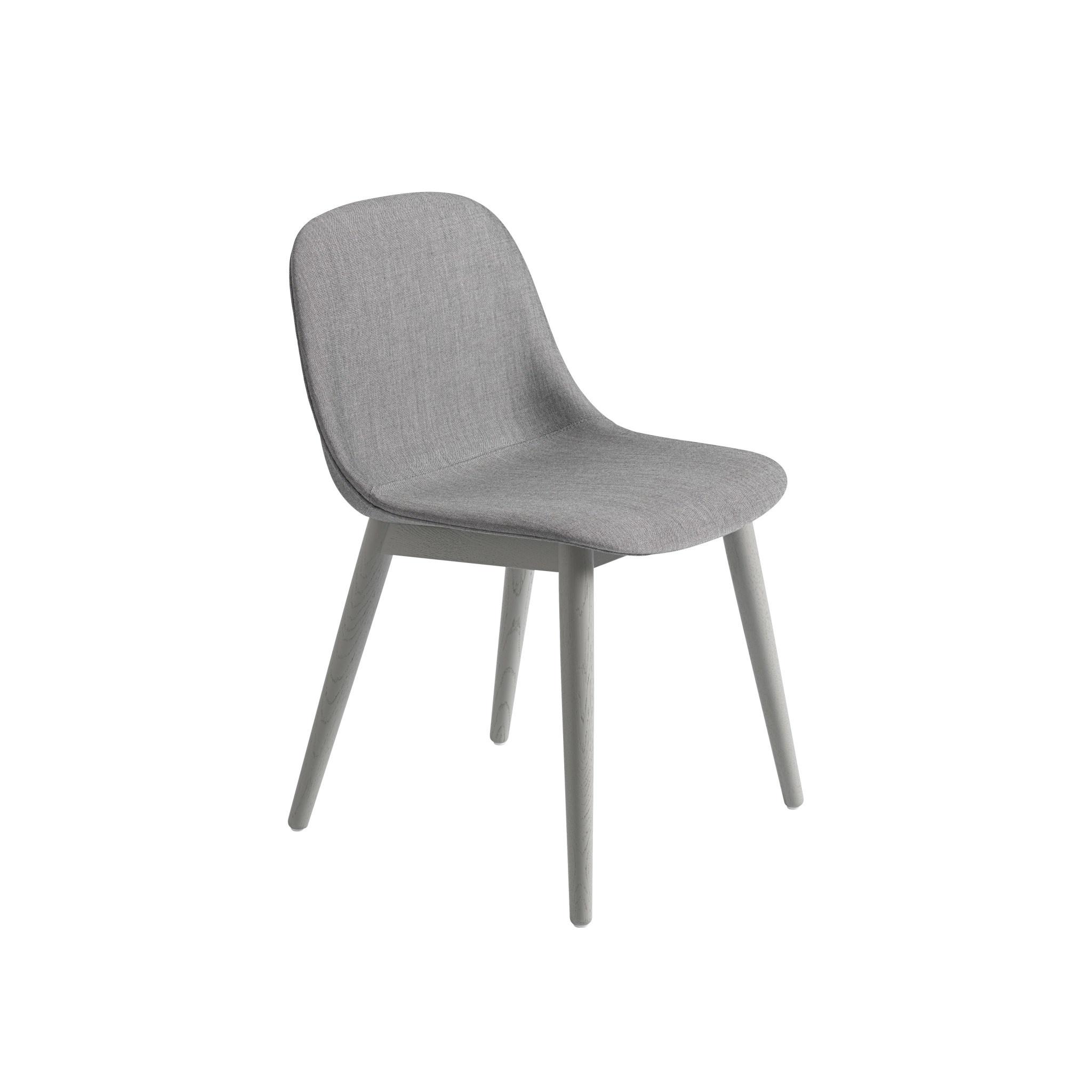 Fiber side chair wood base-7