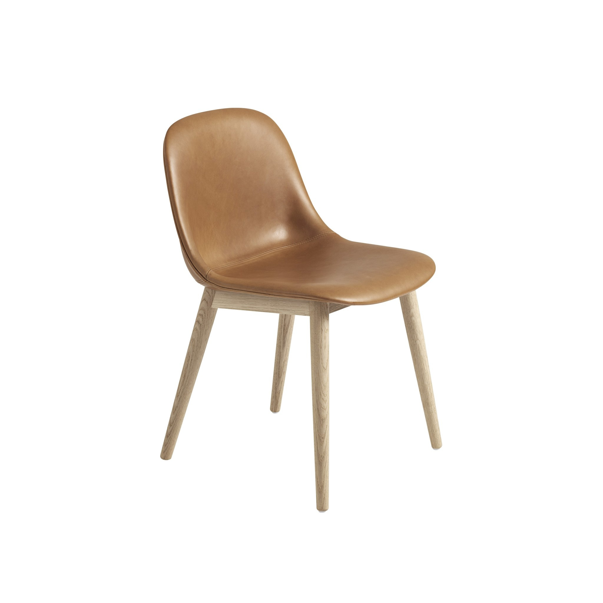 Fiber side chair wood base-8