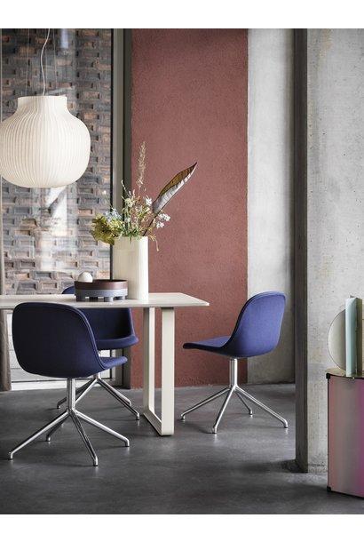 Fiber side chair swivel base w.o. return