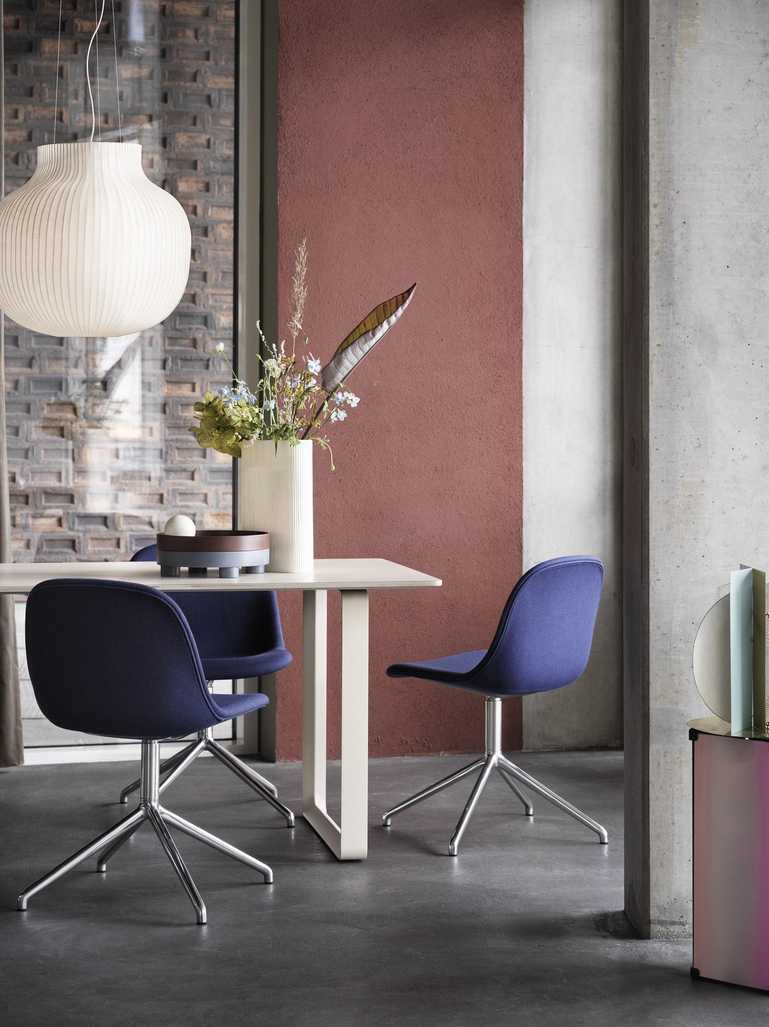 Fiber side chair swivel base w.o. return-2