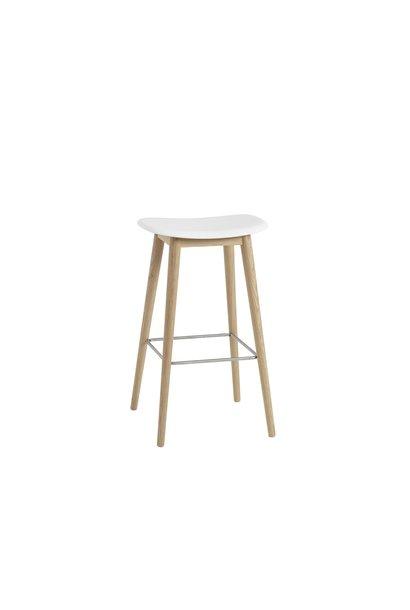 Fiber Bar Stool wood base - 75 cm