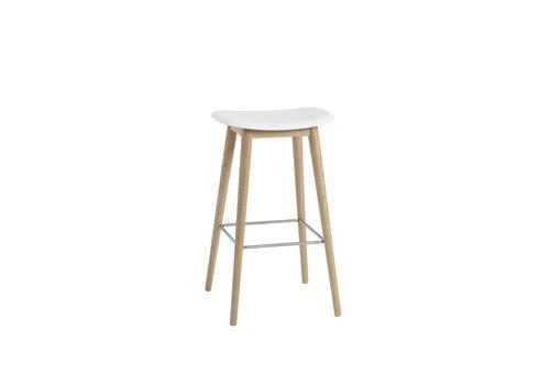 MUUTO Fiber Bar Stool wood base - 75 cm