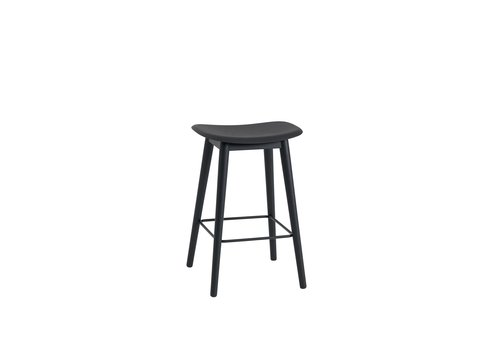 MUUTO Fiber Counter Stool wood base - 65 cm