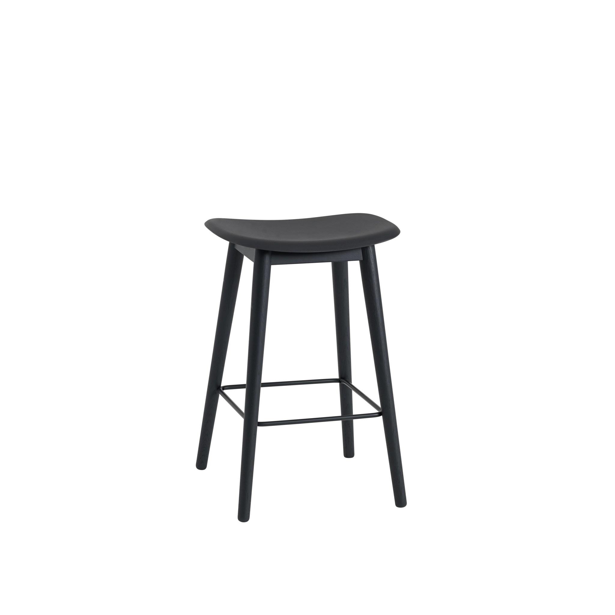 Fiber Counter Stool wood base - 65 cm-2