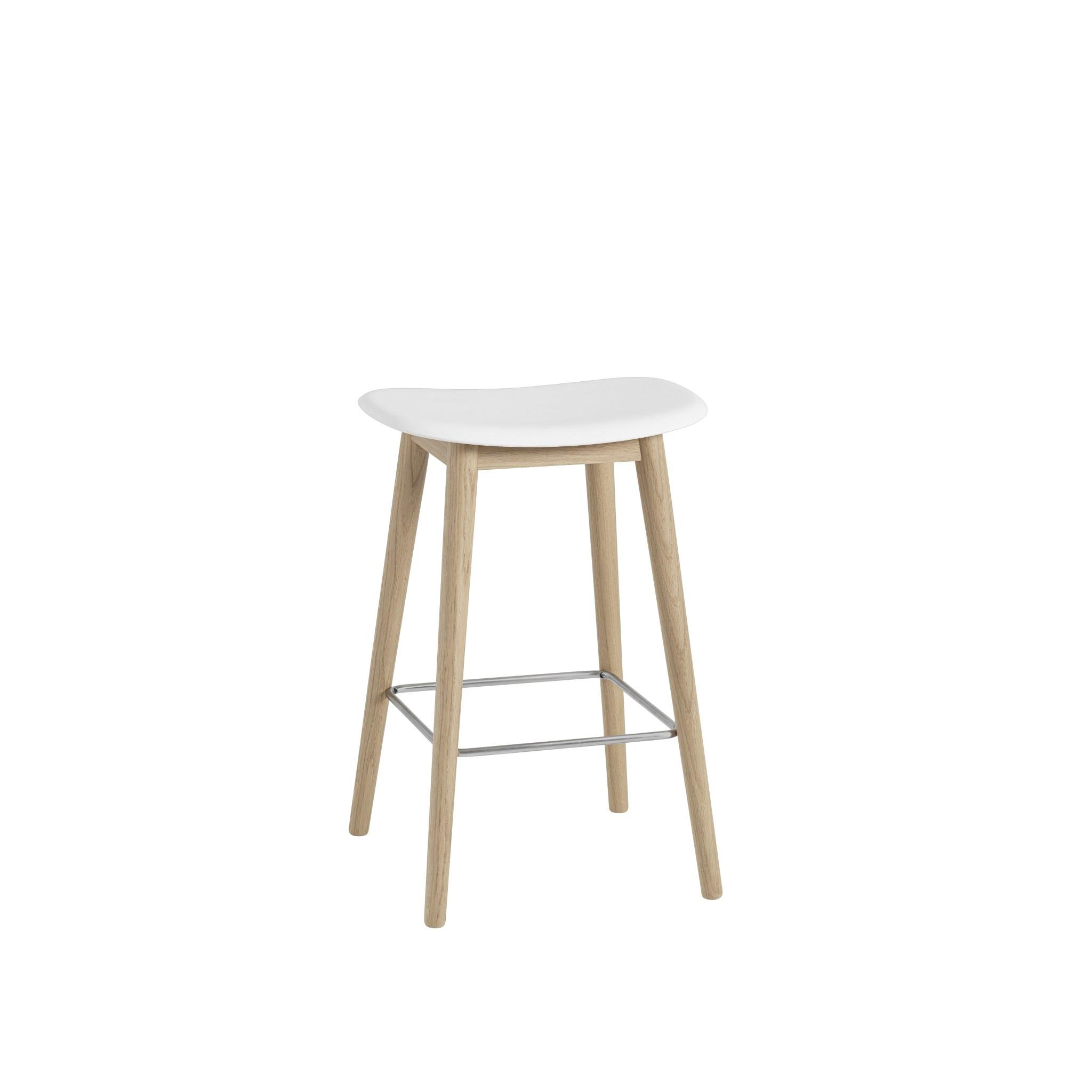 Fiber Counter Stool wood base - 65 cm-1