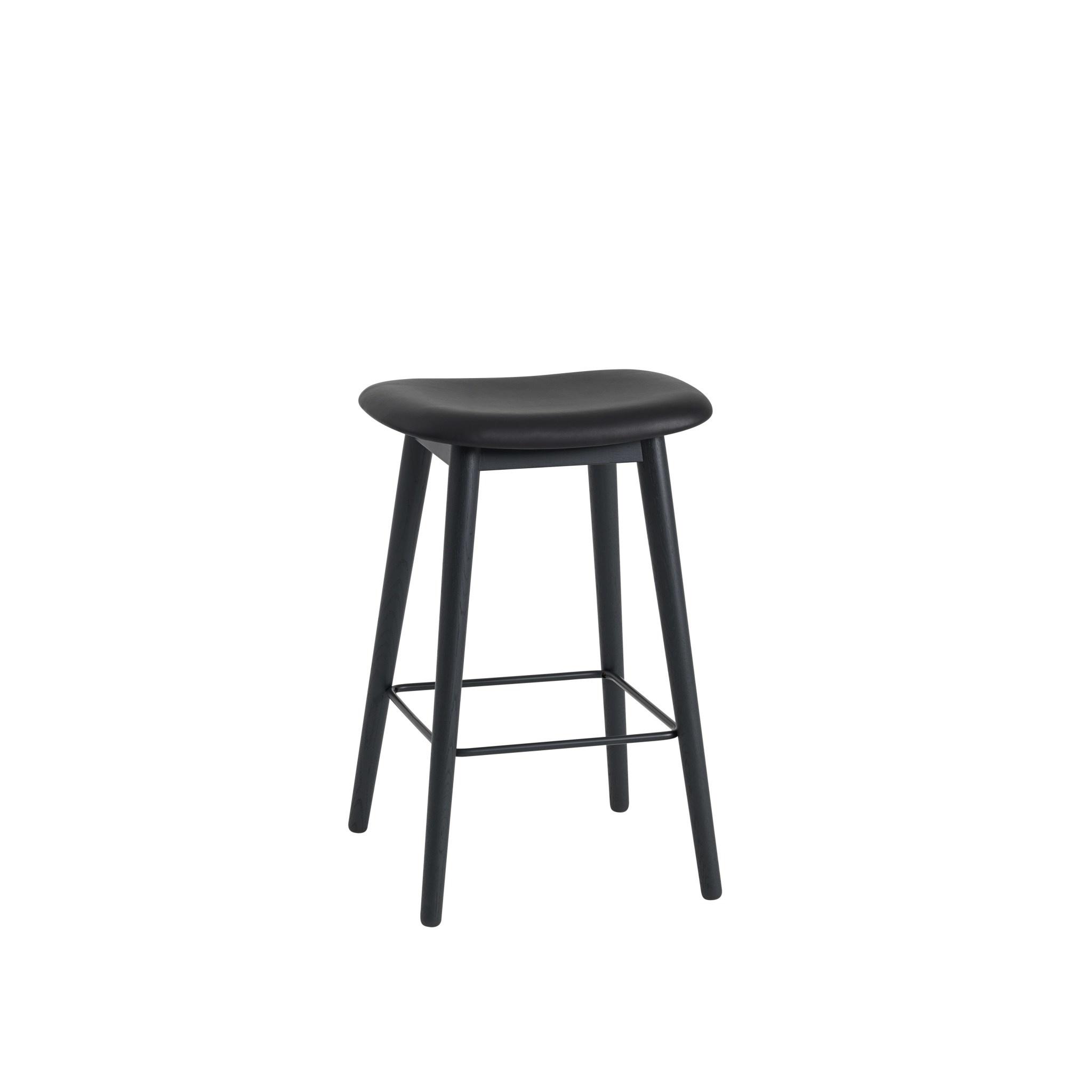 Fiber Counter Stool wood base - 65 cm-4