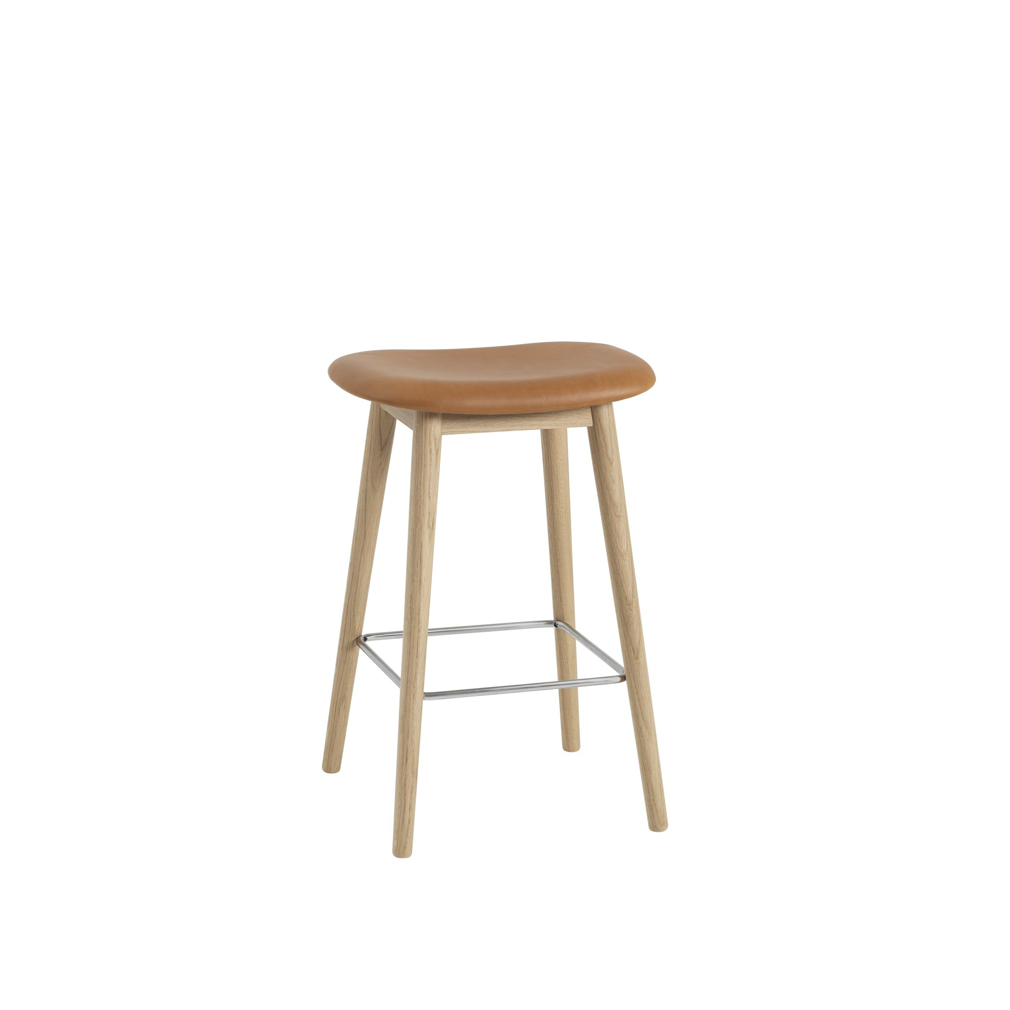 Fiber Counter Stool wood base - 65 cm-5