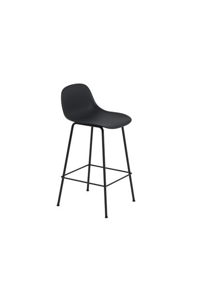 Fiber Counter Stool tube base with backrest - 65 cm