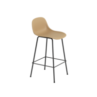 Fiber Bar Stool tube base with backrest - 75 cm
