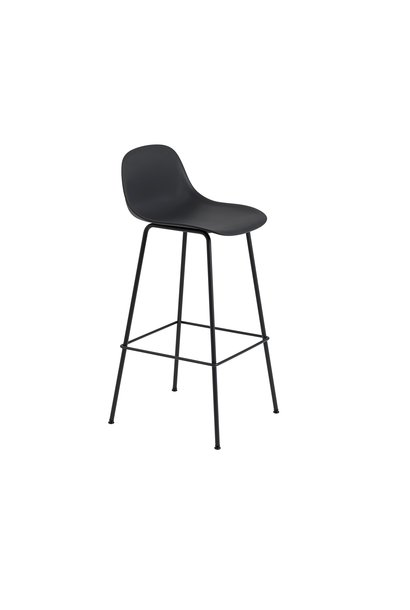 Fiber Bar Stool tube base with backrest - 75 cm