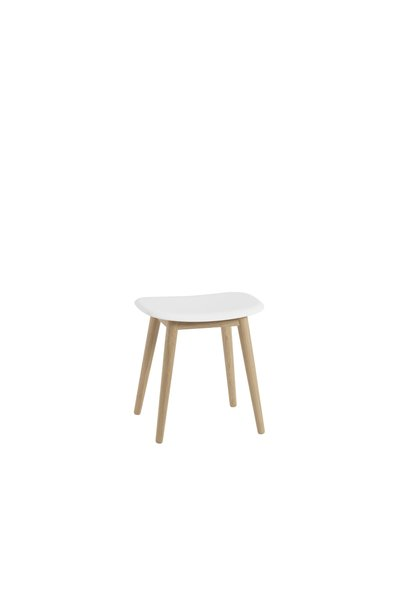 Fiber Stool Wood Base