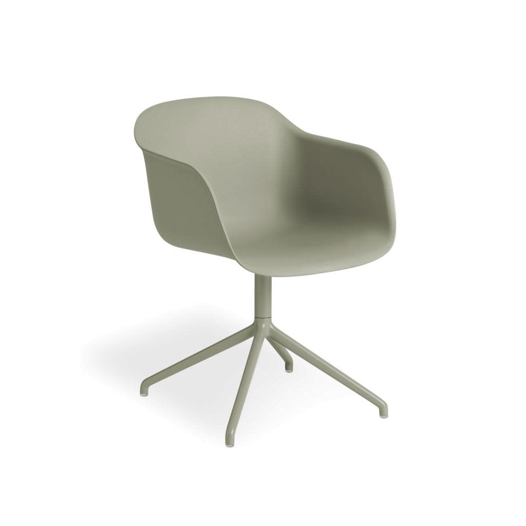 Fiber armchair swivel base w.o. return-9