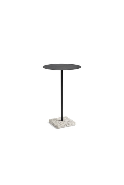 Terrazzo table high anthracite - Grey base