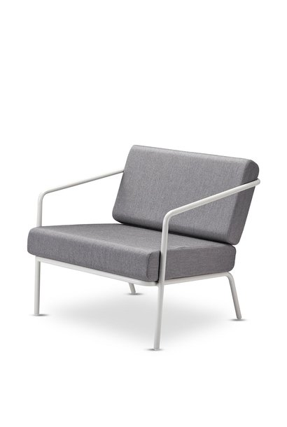 Mojo Lounge Chair Aluminium silver white