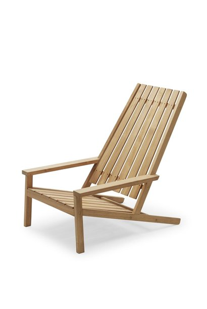 Between Lines Deck Chair Teak