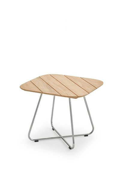 Lilium Lounge Table teak stainless steel