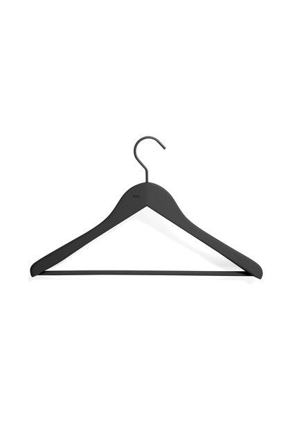 Soft coat hanger - wide w bar - 4 pcs - black