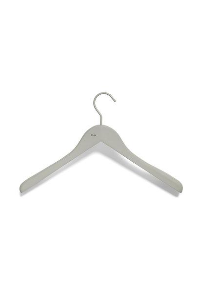 Soft coat hanger - wide - 4 pcs - grey
