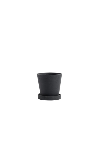 Flowerpot with saucer - S